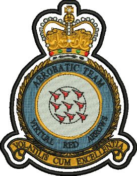 Red Arrows embroidered Badge